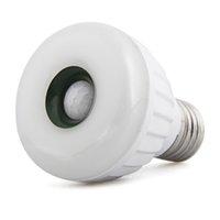 Wholesale E27 LED Infrared PIR Detector Motion Sensor Light W V SMD LED Sensor Lights Lamp Bulb K LM Height cm