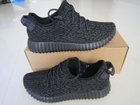 Wholesale 2016 BOOST Pirate black moonrock KANYE WEST Cheap Classic Running Shoes oxford tan turtle dove For Man Woman Dropshipping