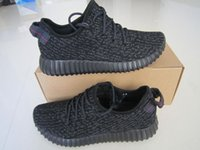 Wholesale 2016 YEEZY BOOST Pirate black Yeezy Cheap Classic Gray Black Running Shoes Sport Sneaker Shoes For Man Woman Dropshipping