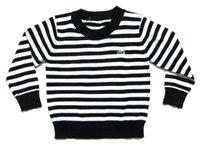 Wholesale New Autumn Long Sleeve Striped Casual Unisex Children Clothing Round Neck Cotton Pullover Kid Sweater Knitting