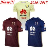 Wholesale Top Quality Mexico Club America Soccer Jerseys Home Yellow Away Red Blue MICKY O PERALTA SAMBUEZA D BENEDETTO football Shirts