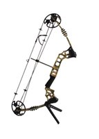 archery set toy - Aluminum Compound Archery Bow Camo Color with Carbon Arrow Set and sight Left Right Hand use for outdoor hunting not toy
