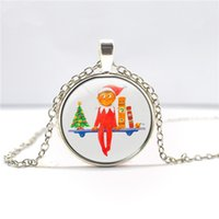 Wholesale elf pendant necklace on the Shelf Christmas gift for Boy Girls Gift Cartoon Jewelry