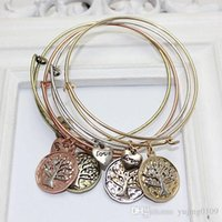 Wholesale Alex and ani infinity bracelets European and American women alloy plating bracelets Tree of Life Alex and ani retro punk style bracelets