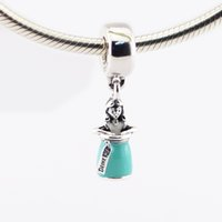 alice beads - 2016 New sterling silver beads charms dangles Alice in a Bottle Fits for Pandora Snake chain Bracelets bangle DIY Pendant jewelry