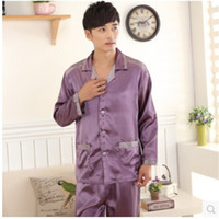 Wholesale New Men s Silk Pyjama Pajamas for Nightshirts Sleepwear Men Lounge Loungewear Pajama Sets Pijama Hombre Plus Size XXXL