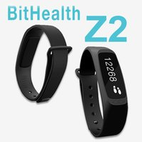 Wholesale Z2 BitHealth quot OLED Smart Watch Bracelet Bluetooth Waterproof Activity Wristband Fitness Health Sleep Tracker DHL