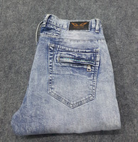 Wholesale 2016 new robin jeans for men with white crystal straight famous brand and high quality size from to