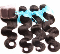 Wholesale New Arrival Human Hair A Grade Brazilian Human Hair Weave Bundles With Free Lace Closure