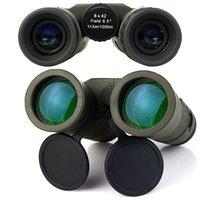 8x42 completamente Multi-revestida BAK4 Prismas HD impermeable prueba de niebla Prismáticos para el recorrido Bird Watching Deporte (Ejército Verde) W2317G