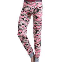 Cheap Wholesale-2015 New arrival brand COCKCON men underwear Camouflage cotton long johns U pouch Tight pajamas Warm under pant legging