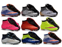 Wholesale Cheap Men s Football Boots mens Superfly FG High Ankle Soccer Shoes mens Mercurial Superfly Soccer Cleats Shoes Size