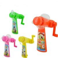 ac toys - Portable Mini Handheld Fan Children Plastic Safety Cooling Fan Toys Environmental No Batteries Fans Outdoor Cartoon Print Fan LJJP118