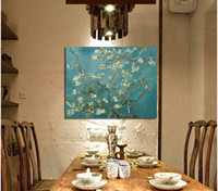 almond tree - Blossoming Almond Tree Oil Painting Of Vincent Van Gogh Reproduction Canvas Print Painting Wall Art Picture For Home Decoration cm No F