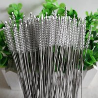 Wholesale Hot Nylon Straw Cleaners Brushe for any tube pipe stainless steel straw glass