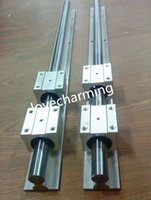 bearing with shaft - 2 Set SBR20 mm MM FULLY SUPPORTED LINEAR RAIL SHAFT ROD with SBR20UU bearing Block
