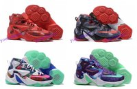 Wholesale Lebron xiii k Point Club iD Multicolor Men s Basketball Shoes Miami Style Red Green Purple For Mens Lebrons James LJ13 Sneakers