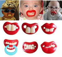 Wholesale Top Silicone Funny Nipple Dummy Baby Soother Joke Prank Toddler Pacy Orthodontic Nipples Teether Baby Pacifier Care