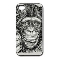 artistic logos - Vintage Thumb Up Chimpanzee Artistic Drawing Art Logos fashion cell phone case for iphone s s c s plus