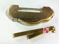 Wholesale accessories antique copper copper bonus classical furniture Bookcase Chinese thrillion wardrobe copper lock cm