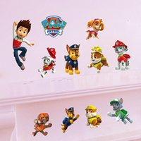 Wholesale Paw Wall Stickers Decals Home Decor Patrol Removable DIY Cartoon Wall Decals For Kids Bedroom