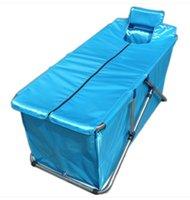 Wholesale Size130 cm Simple Folding Bathtub Inflatable Tub Handmade Bath Barrel Adult Thicker Bath Bucket