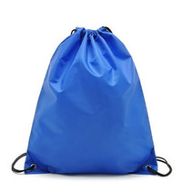 Wholesale 10pcs New Drawstring Non woven fabric Tote bags waterproof Backpack folding bags Marketing Promotion drawstring shoulder bag shopping bags