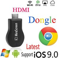 Wholesale MiraScreen OTA TV Stick Dongle Better Than EZCAST EasyCast Wi Fi Display Receiver DLNA Airplay Miracast Airmirroring Chromecast DHL free