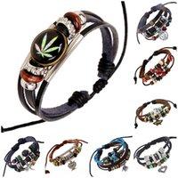 achat en gros de charmes gothiques mixtes-Dernières Mode 8 Couleur gothiques Charms Bracelets Unisex Bracelet Esclave Multilayer Loisirs Bracelet Mix 8 Designs Bijoux D836L