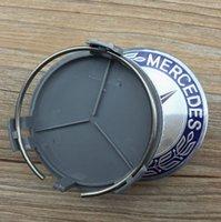 alloy wheels for cars - 100pcs mm Blue pin Car Wheel Center Caps Hubcap Emblem Wheel Cover Rims Cap Badges For Mercedes