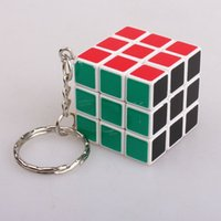 Wholesale New cm Mini Magic speed cube third order The standard color puzzle cube with key chain Minifigures Educational toys