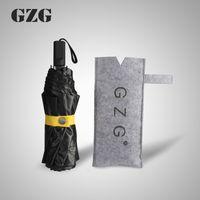 aluminium framework - Original SZG Mini Automatic Tri folded Umbrella Super Light With Aluminium Alloy Framework And Package Black Color