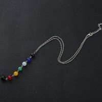 balancing yoga - Hot New Natural Beads Pendant Yoga Reiki Healing Balancing Necklace with Chain