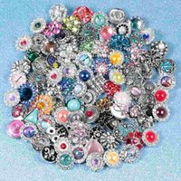 Wholesale mix styles colors mm small button snap jewelry interchangeable ginger snap button charm making jewelry m