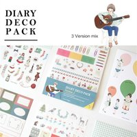 Wholesale 3 pack Diary deco stickers for photo album frame scrapbooking paper sticker tag Stationery Creative school supplies