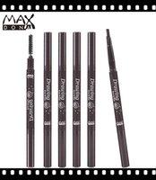 Wholesale ORIGINAL Maxdona Brand Waterproof Eyebrow Pencil Eye Brow Pen Eyeliner Makeup Cosmetic Tools Beauty Colors