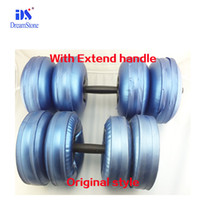 bag filling equipment - water filled dumbbell with extend handle parts adjustable dumbbell bar pair gym fitness equipment bags