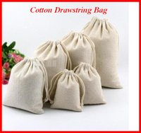 Wholesale Canvas Drawstring Pouches Natural Cotton Laundry Favor Holder Fashion Jewelry Pouches for storing Fruits Vegetable bag005