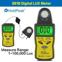 Wholesale HoldPeak Luxmeter Digital Light Meter LUX Meter Spectrometers HP B