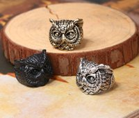 band owl - Hot Sale Elephant Orangutans Owl Dog Little Monsters Animal Wrap Rings for Women and Girls Unique Trendy Retro Vintage Ring Fashion Jewelry