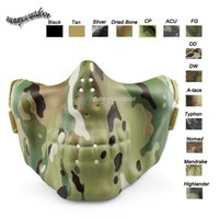Wholesale Outdoor Face Protection Gear Airsoft Shooting Sports Skeleton Mask Lower Half Face Airsoft Tactical Camouflage Skull Mask