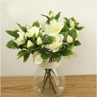 artificial gardenias - 4 Colors Elegant Artificial Gardenia Flower Simulation Floral Decorative Flower Wedding Party Bedroom Living Room Ornment