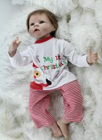 baby smile photo - 22 Inches Silicone Vinyl Reborn Baby Dolls Boy Smiling Real Photo Handmade Boneca Reborn Baby Alive Toys Birthday Gift for girls