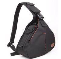 Wholesale fashion Nylon Waterproof Wear Resistant DSLR SLR Digital Sling Camera Case Shoulder Messenger Bag Backpack for Nikon For Canon For Sony