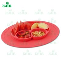 baby warming plate - Smile design Baby Feeding Placemat Silicon plates Warm Food Holder for Toddlers with colors F023