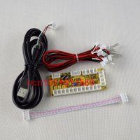 Wholesale Reyann Zero Delay Arcade USB Encoder PC To Joystick MAME Fight Stick Controls mm SANWA Push Buttons Type