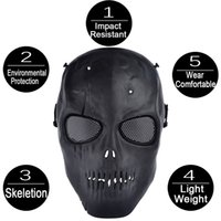 airsoft safety mask - Ghost Nocturnal Outdoor Riding Tactical Police Gear Face Mask Warrior Cool Airsoft Mask Protect Safety Horror Mask