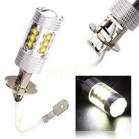 Cheap H3 16*CREE LED Super Bright Pure White Fog Tail Head Lamp Bulbs Auto Driving Daytime Running Light Car Headlight HA10512