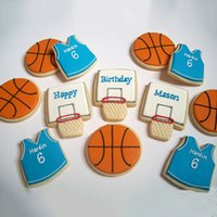 baking basket - DHL Basketball Shape Cookie Cutters Basket Ball Shirt Shape Stainless Steel Biscuit Cookie Moulds Chocolate Molds Baking Tools