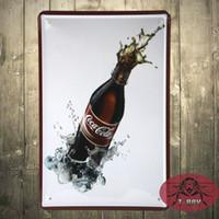 Wholesale Whoesales Retro Coke Drink Metal Tin Sign Poster Home Club Pub Bar Wall Decor X30cm F